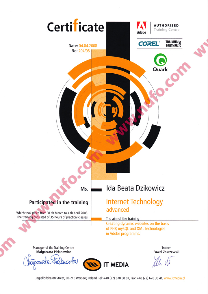 Internet Technology Certificate