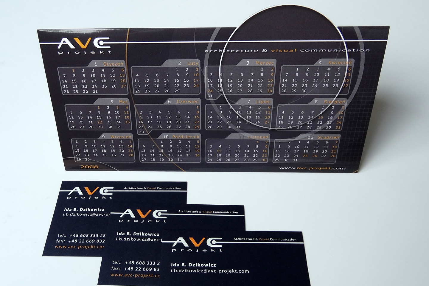 Desk Calendar + Business Cards